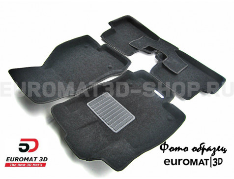 Текстильные 3D коврики Euromat3D Business в салон для Acura MDX (2006-2014) № EMC3D-000001