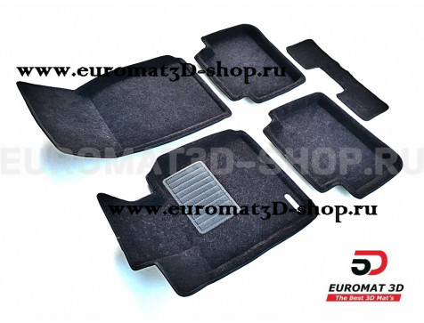 Текстильные 3D коврики Euromat3D Business в салон для Bmw 1 (F20) (2011-) № EMC3D-001213