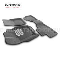 Текстильные 3D коврики Euromat3D Lux в салон для Jeep Grand Cherokee (2010-) № EM3D-002760G (Серые)