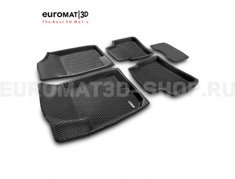 3D коврики Euromat3D EVA в салон для Hyundai I30 (2009-2011) № EM3DEVA-002722