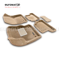 Текстильные 3D коврики Euromat3D Lux в салон для Ford Focus 3 (2011-) № EM3D-002207T Бежевые
